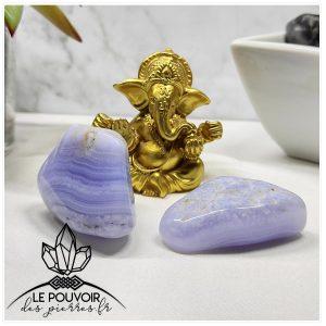 boutique lithotherapie calcedoine bleue pouvoir proprietes vertus pierres natuelles les bienfaits des pierres le pouvoir des pierres prix calcedoine pierre naturelle de qualite 1